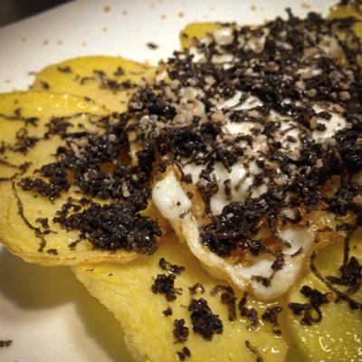 Ou, patates i tòfona, Menú degustació Març, Hotel Restaurant Diego, 2021