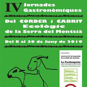 IV Jornades Gastronòmiques del corder i cabrit ecològic - Serra del Montsià 2019