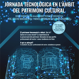 Jornada tecnològica en l'àmbit del patrimoni culural, Tarragona, 2019