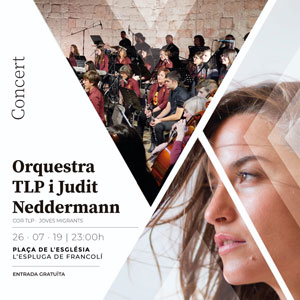 Concert de l'Orquestra TLP i Judit Neddermann a l'Espluga de Francolí, 2019