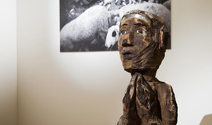 L'escultura de l'artista Marta Pruna.