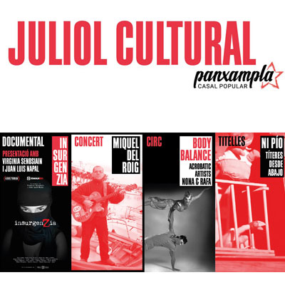 Juliol cultural - Casal Popular Panxampla - Tortosa 2020