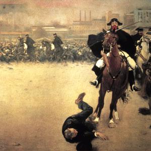 Fragment del quadre 'La Càrrega' de Ramon Casas