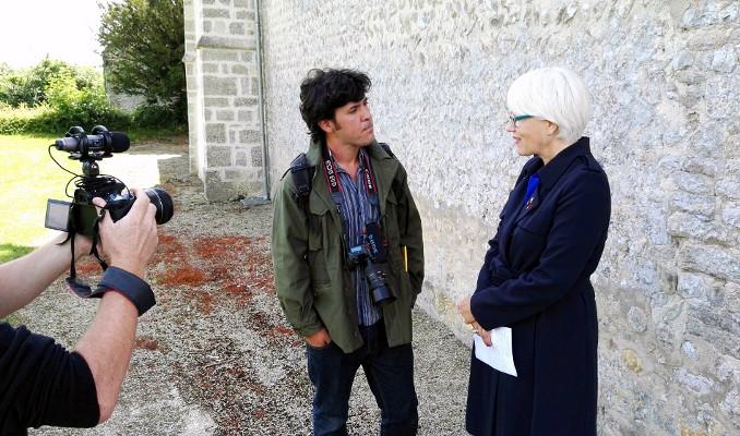 Laureano Clavero entrevistant Helen Patton