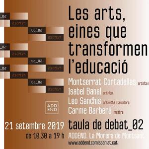 Jornada de debat 'Les arts, eines que transformen l'educació' - Morera de Montsant 2019