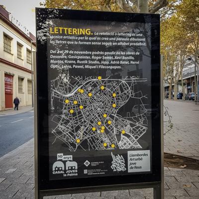 Exposició 'Lettering', Projecte Llambordes, Reus, 2020