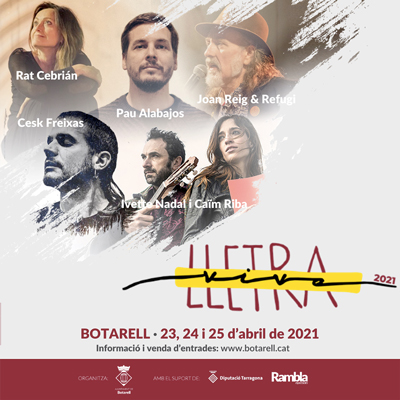 Festival Lletra Viva de Botarell, 2021