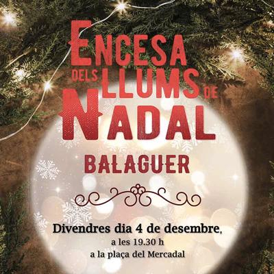 Encesa dels llums de Nadal, Balaguer, 2020