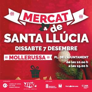Mercat de Santa Llúcia a Mollerussa, Nadal, 2019