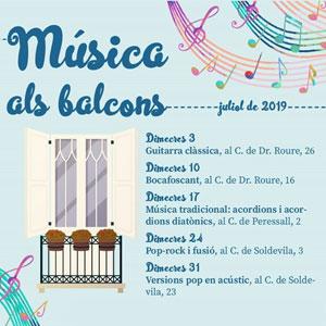 Cicle de concerts Música als Balcons a Tremp, 2019