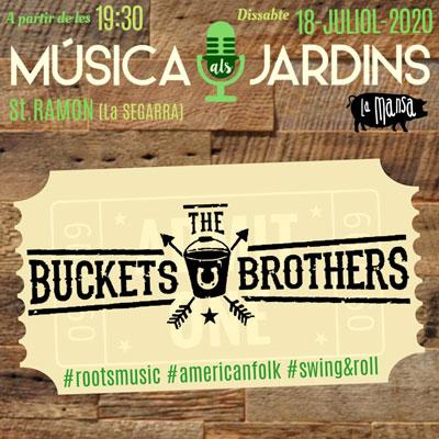 Concert de The Bucket Brothers, Música als Jardins, Sant Ramon, 2020