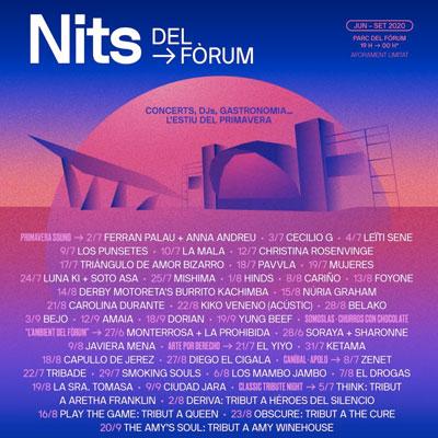Nits del Fòrum, Primavera Sound, Barcelona, 2020