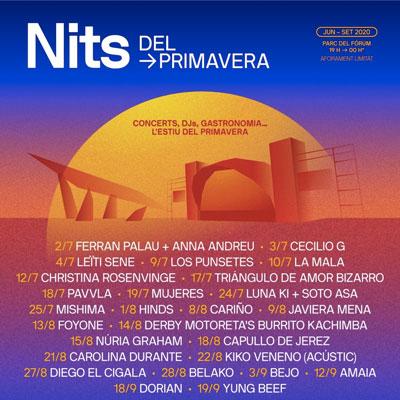 Nits de Primavera, Nits del Fòrum, Primavera Sound, Barcelona, 2020