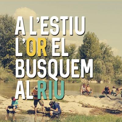Activitat 'A l'estiu l'or el busquem al riu' a Balaguer, 2019