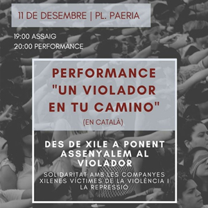Performance 'Un violador en tu camino' (en català) a Lleida