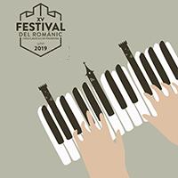 festival del romànic i dels castells de frontera piano i logo