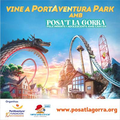 'Posa't la Gorra!' a PortAventura, AFANOC, 2021