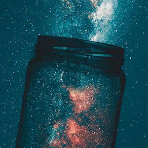 Pot amb estrelles, Cel, Firmament, GAlàxia, Pot de Vidre