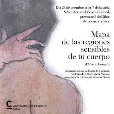 presentació del poemari 'Mapa de las regiones sensibles de tu cuerpo' d'Alberto Cirugeda i Queralt Osorio