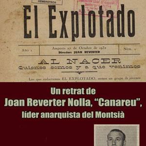Conferència 'Un retrat de Joan Reverter Nolla 'Canareu''