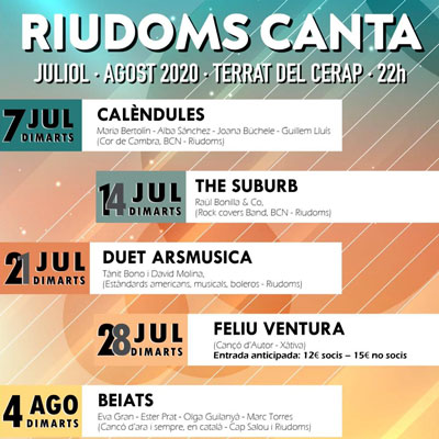 Cicle, Riudoms canta, Centre d'Estudis Riudomencs Arnau de Palomar, CERAP, Riudoms, 2020