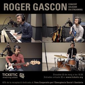 Roger Gascon, músic, streamings solidaris