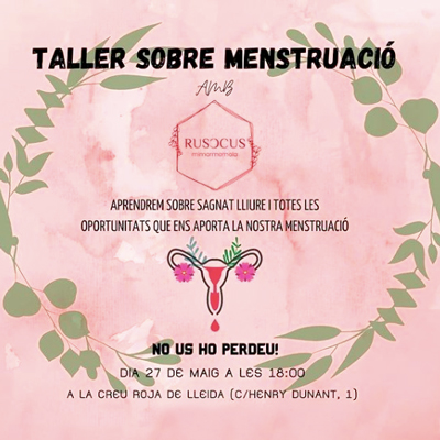 Taller sobre menstruació, Rusccus, Creu Roja de Lleida