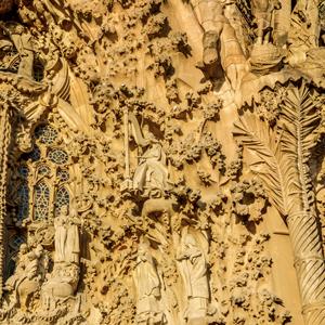 Detall de la Façana del Naixement de la Sagrada Família