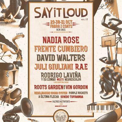 Festival Say It Loud, Barcelona, 2021
