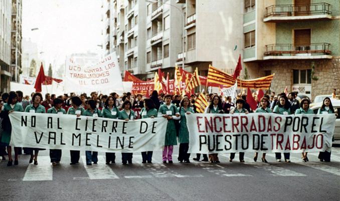 Imatge d'una de les manifestacions de les treballadores de la multinacional alemanya.