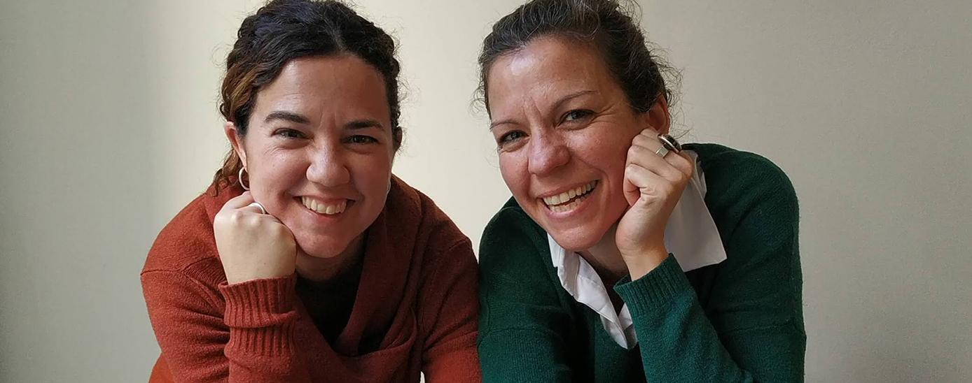 Núria Puyuelo i Laia Figueras, de l'Editorial Nanit