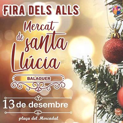 Fira mercat de Santa Llúcia, la Fira dels Alls, Balaguer, 2020