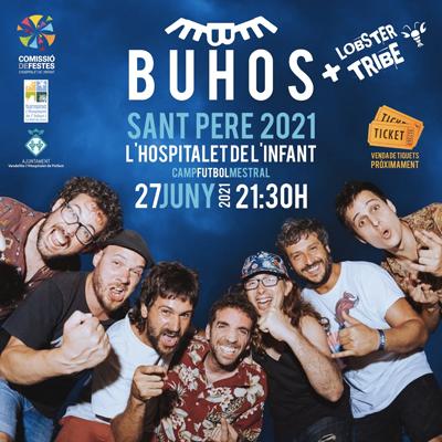 Concert de Buhos a la Festa Major de Sant Pere de l'Hospitalet de l'Infant, 2021