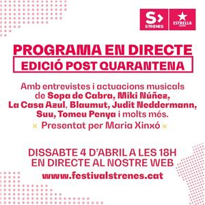 Progama en streaming per la presentació del Festival Strenes, 2020