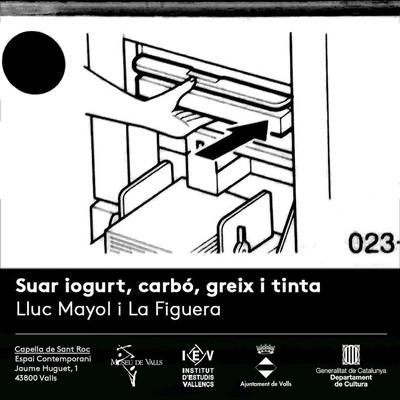 Exposició 'Suar iogurt, carbó, greix i tinta' de Lluc Mayol i La Figuera Benimaclet