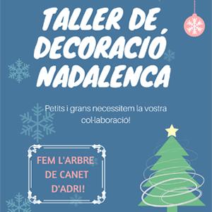 Taller de decoració nadalenca a Canet d'Adri, 2019