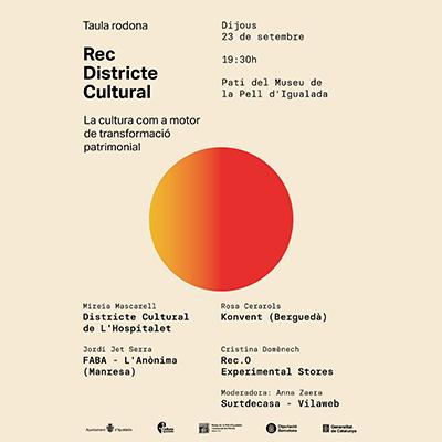 Taula rodona Rec Districte Cultural