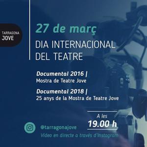 Som Teatre Jove, Dia Mundial del Teatre, Tarragona, 2020