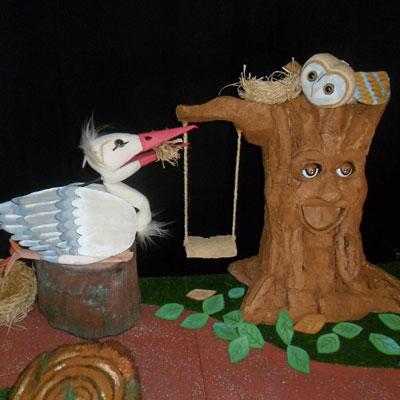 Espectacle familiar 'La cigonya i el Mussol Valent' de Les Granotes