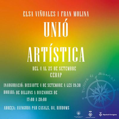 Exposició 'Unió artística' d'Elsa Viñuales i Fran Molina