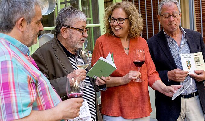 Joan M. Minguet, Narcís Comadira, Montserrat Serra i Enric Satué