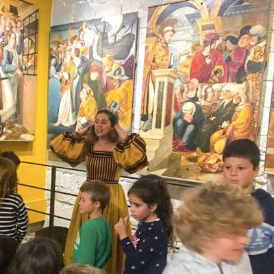Visita familiar teatralitzada 'Descobrim el tresor amagat del md'A', Museu d'Art de Girona, 2020