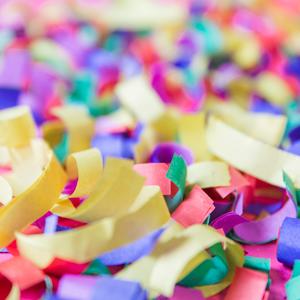 Serpentines, Festa, Confeti