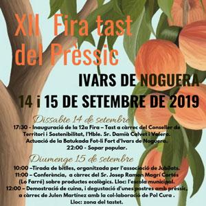 XII Fira tast del Prèssic - Ivars de Noguera 2019