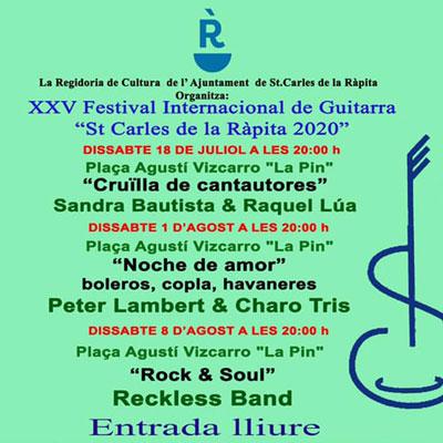 XXV Festival Internacional de Guitarra - La Ràpita 2020