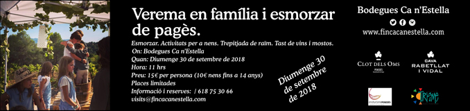 Ca n'Estella 2018 Verema Infantil