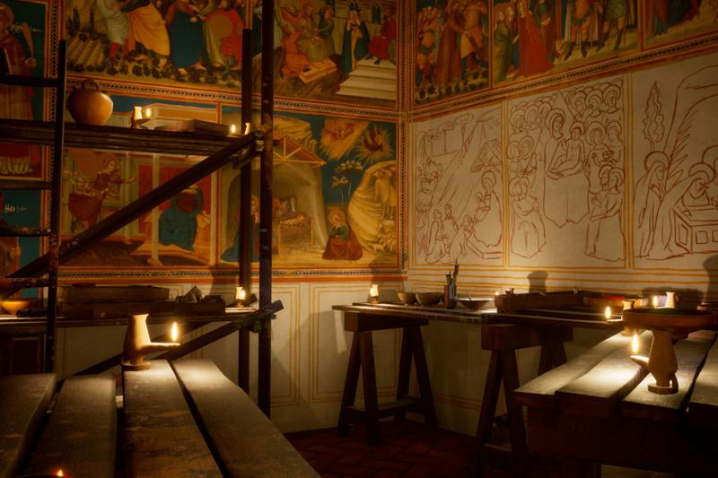 Rere els murs del monestir