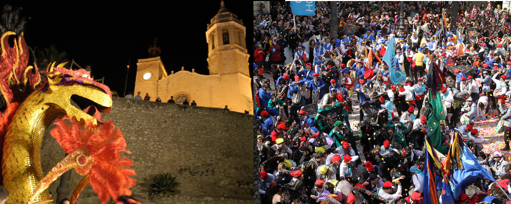 Cara a cara. Carnavals de Sitges i Vilanova i la Geltrú