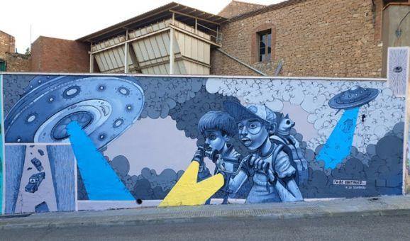 """El darrer mural de """"A la sombra"""", a Ascó."""