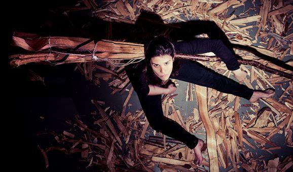 La trapezista Júlia Farrero.
